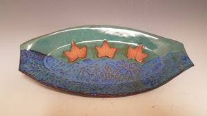 "Blue and Green Ceramic ""Trinket"" Tray"