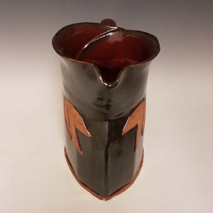 Pitcher with Jasper Red and Starry night gray.