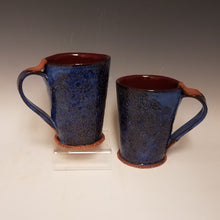 Load image into Gallery viewer, Indigo Blue Mugs with Deep Red Interior  2 in stock