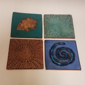 Set of 4 Colorful Coasters