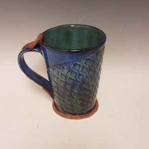 Blue-Green Textured Mug