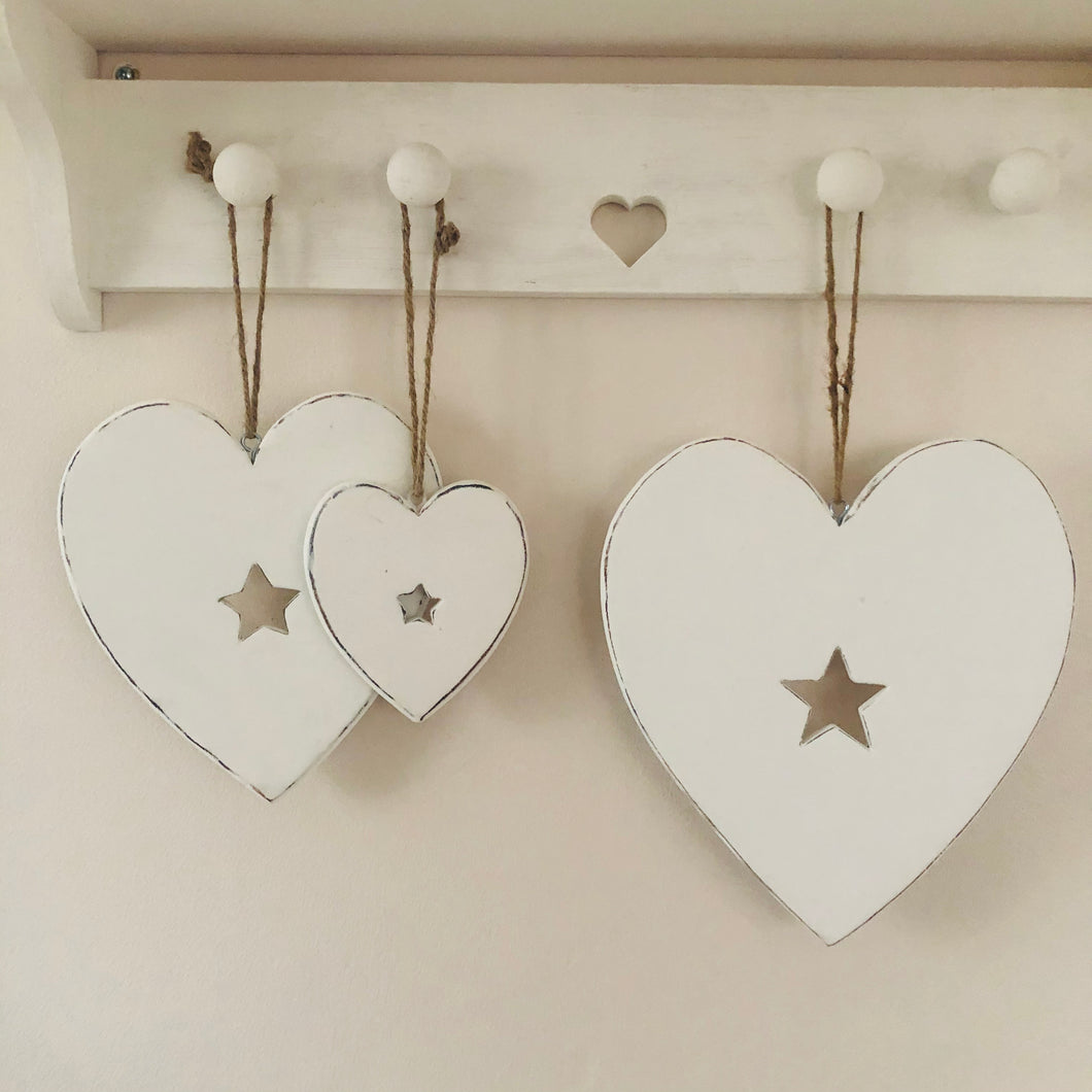White Heart With Star Centre