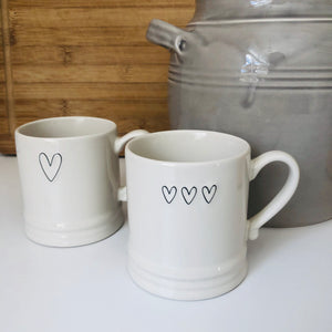 Small Triple Heart Mug