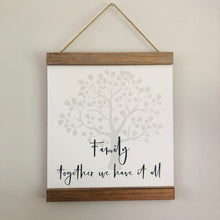 Load image into Gallery viewer, Family Tree Hanging Plaque