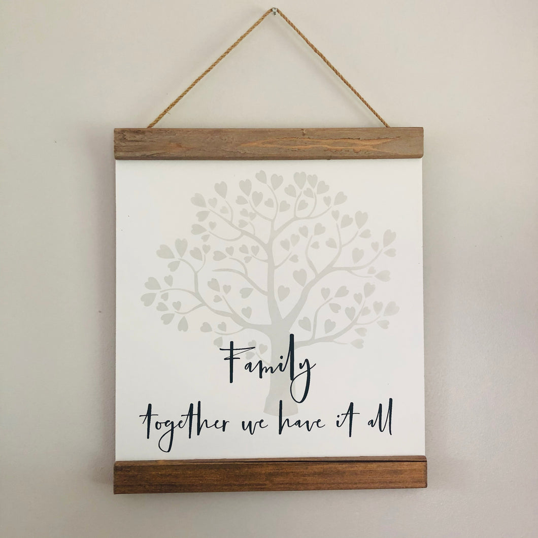 Family Tree Hanging Plaque