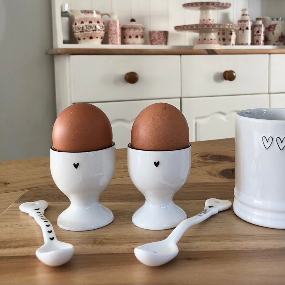 Black Heart Egg Cup