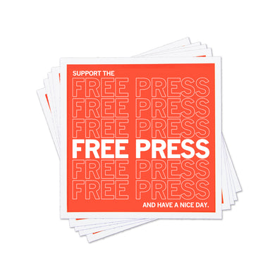 Support The Free Press Sticker