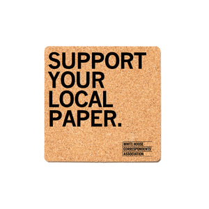 Support Your Local Paper Cork Coaster