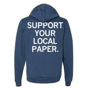 Support Your Local Paper Zip-Up Hoodie