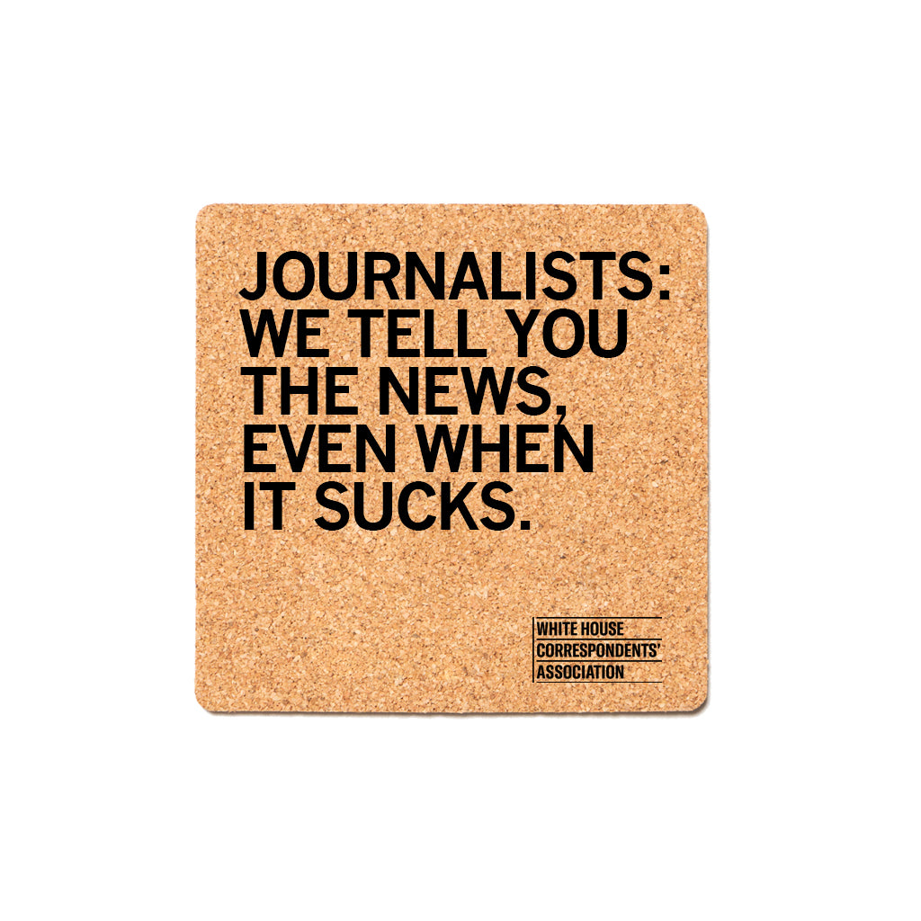 We Tell You The News Cork Coaster