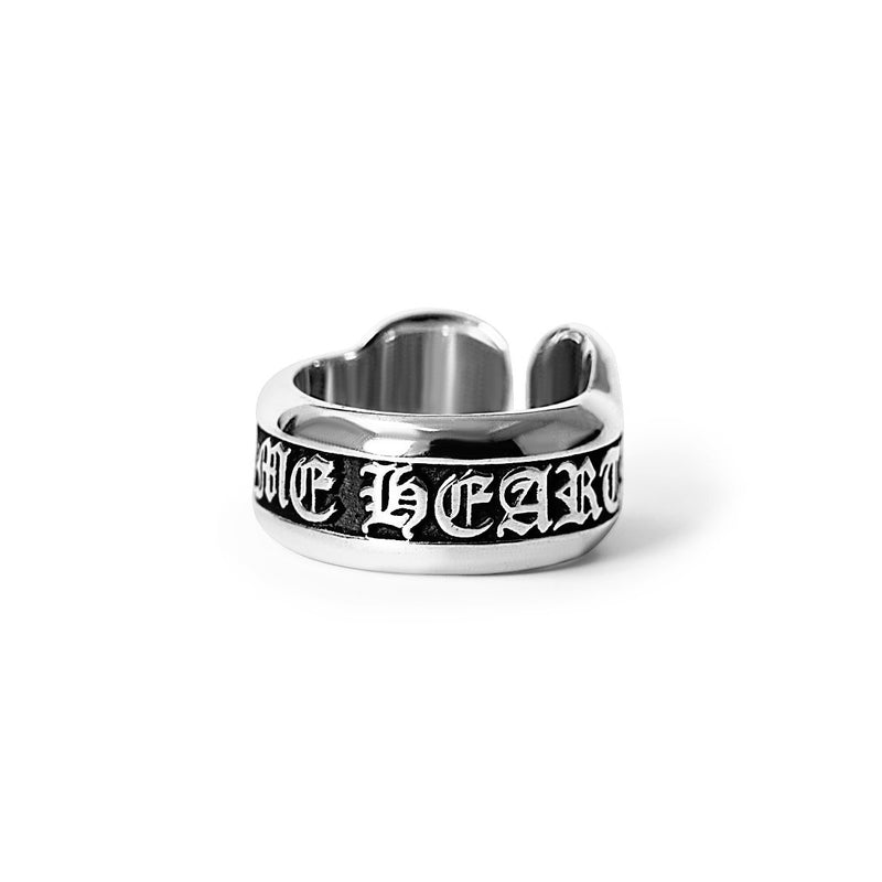 SMALL SCROLL LABEL RING