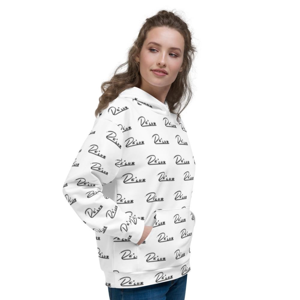 Womens All Over Logo Hoodie