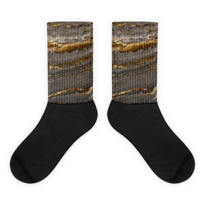 Golden Grey Marble Socks
