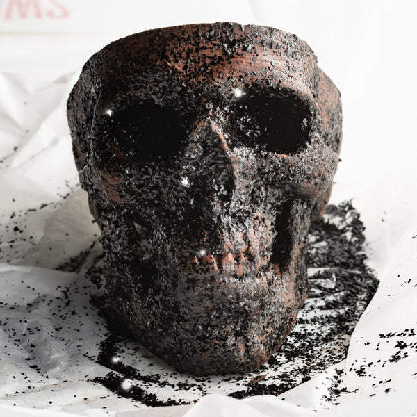 Giant Glitter Chocolate Skull