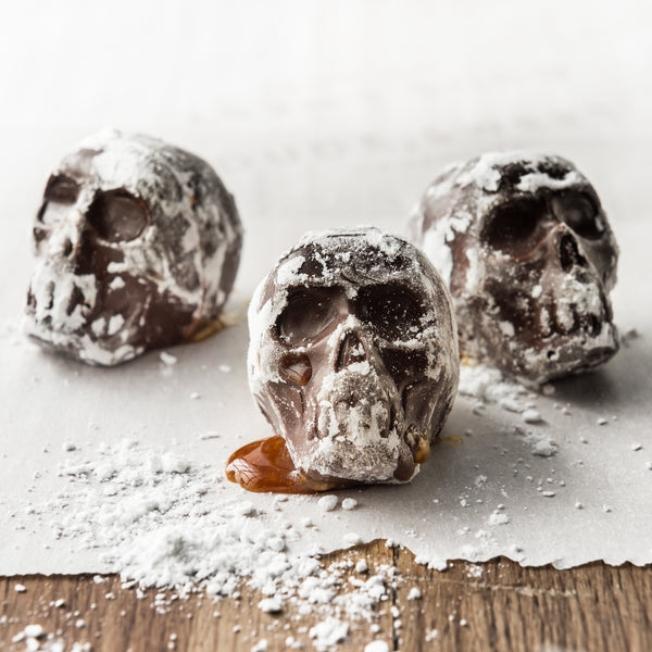 Japanese Sweet Potato and Sake Butterscotch Skulls
