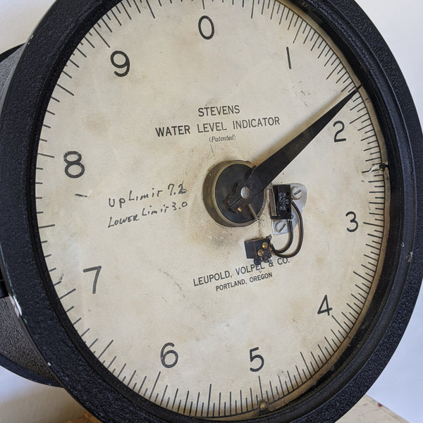 Close up of vintage water level indicator