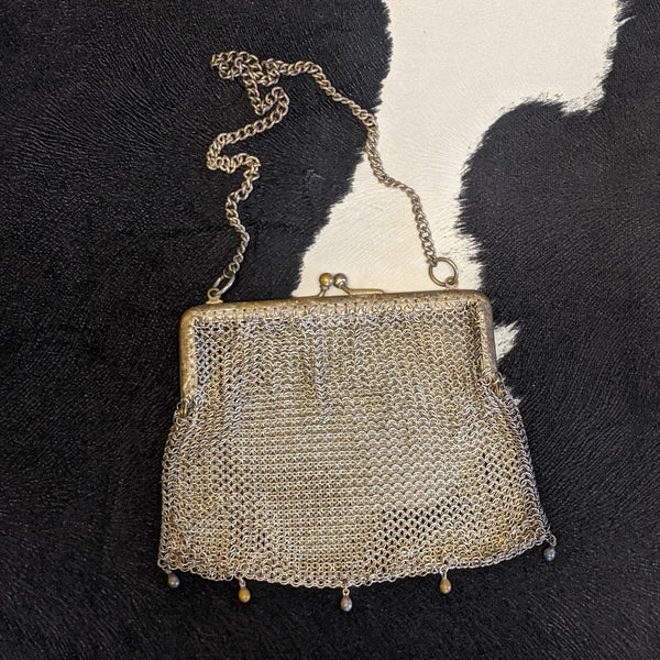 Metal art deco purse