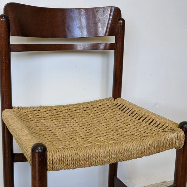 Close up of chair's seat