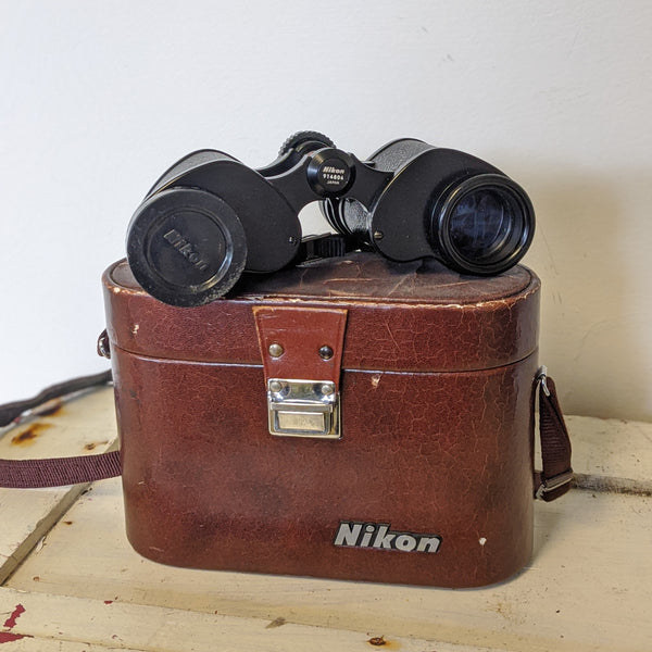 Vintage Nikon binoculars with case