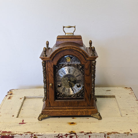 Vintage walnut mantel clock