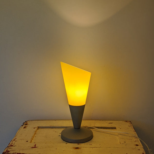Yellow lamp turned on