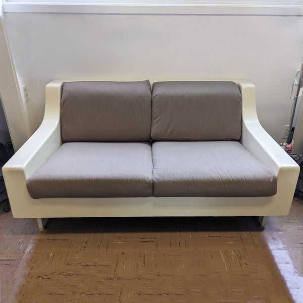 White and brown couch/ loveseat