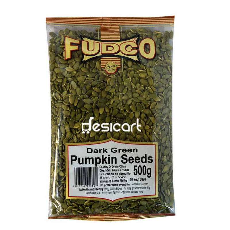 FUDCO PUMPKIN SEEDS DARK GREEN 500G