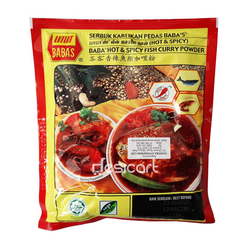 BABAS HOT & SPICY FISH CURRY POWDER 1KG