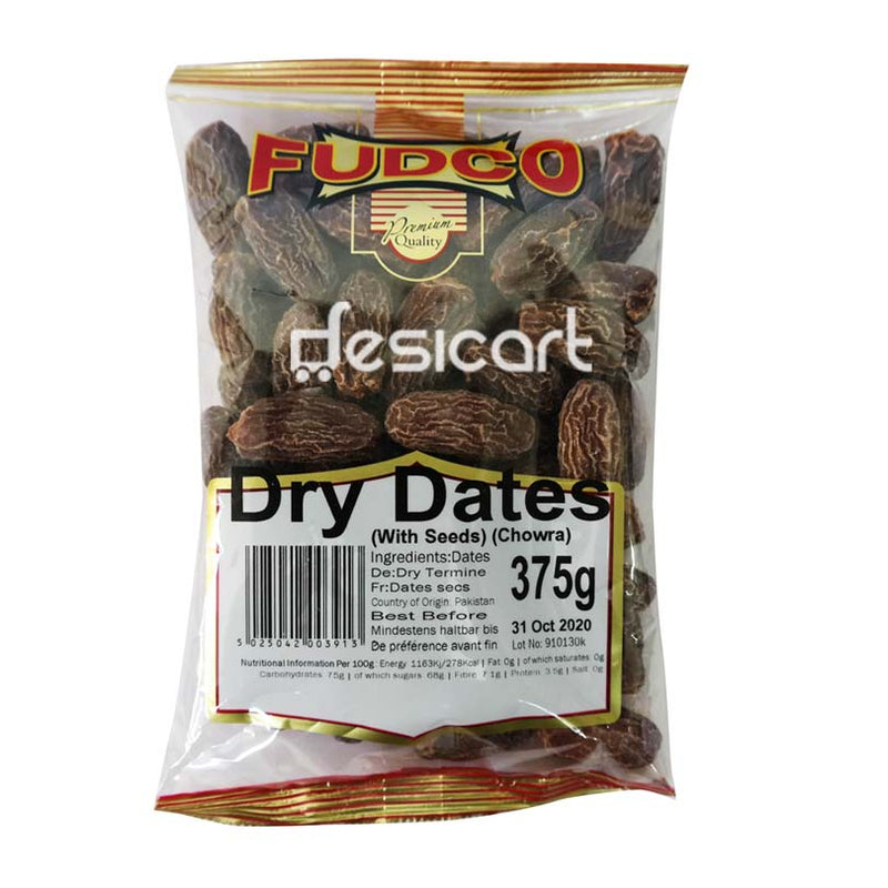 FUDCO DATES DRY WITH SEEDS 375G