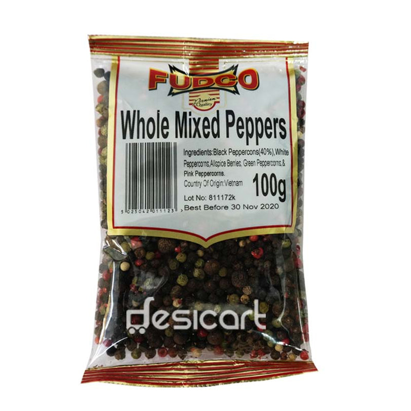 FUDCO WHOLE MIX PEPPERS 100G