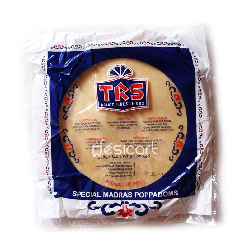 TRS PAPAD MADRAS PLAIN 200G