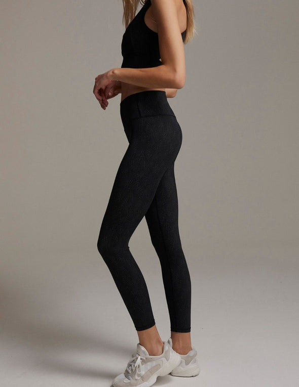 Luna Leggings - Mono Feather