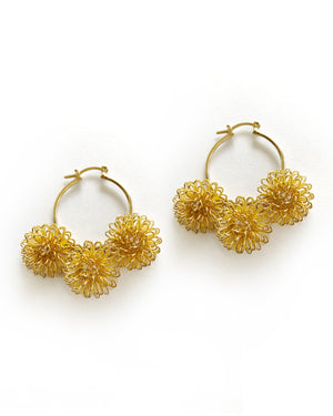 Pompom Small Loop Earrings
