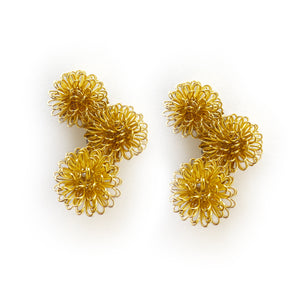 Pompom Cascade Earrings