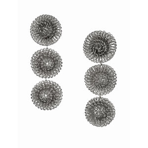 Silver Pompom earrings