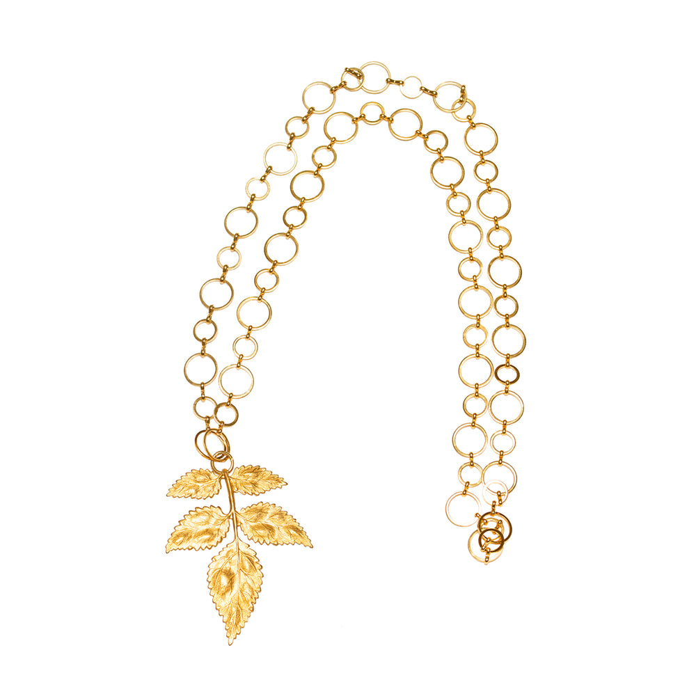 Load image into Gallery viewer, Golden Leaf Necklace