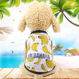 Fashion Cotton Pet Clothes Cute Fruit Pattern Dress T-shirts Lovers Suit Small Medium Cat Dog Clothes Pet Supplies Dog Skirts