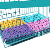 Pet Mats Plastic Spliced Pads with Heart Hole for Bunny Rabbit Cat Dog Cage Water Leak Pet Cage Mat Bathroom Floor Table 30*20cm