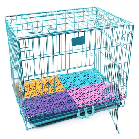 6 Color Pet Mats Breathable Dog Cage Mat Non-slip Fit All Animals Rabbit Cat Puppy Bed Bathroom Floor Table Large Dogs Foot Pad