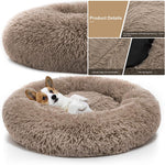 Pet Dog Bed Comfortable Donut Cuddler Round Dog Kennel Ultra Soft Washable Dog and Cat Cushion Bed Winter Warm Sofa hot sell
