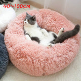 Dog Bed Pet Round Plush Cat Bed Shape Sleeping Bag Kennel Cat Puppy Sofa Bed Pet House Winter Warm Beds Cushion Cat Bed #15