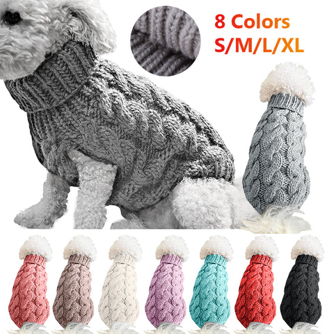 Winter Knitted Dog Clothes Warm Jumper Sweater For Small Large Dogs Pet Clothing Coat Knitting Crochet Cloth Jersey Perro #15