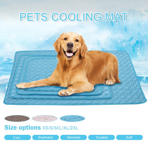Pet Cooling Mats For Dogs Summer Dog Bed For Small/Medium/Large Dogs/Cats Pet Cool Sofa Cushion Mattress For Cat XS-2XL #3