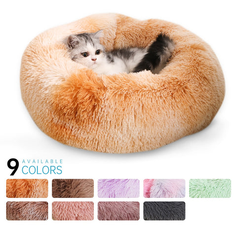 Super Soft Dog Bed Round Washable Long Plush Dog Kennel Cat House Velvet Mats Sofa For Dog Chihuahua Dog Basket Pet Bed #15