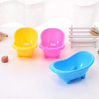 Hot Selling Creative Cute Bathroom Bathing Case Mini Hamster Gerbils Bathtub Small Pets Bath Sand Room Pet Tub