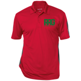Performance Textured Three-Button Polo (5 colors)