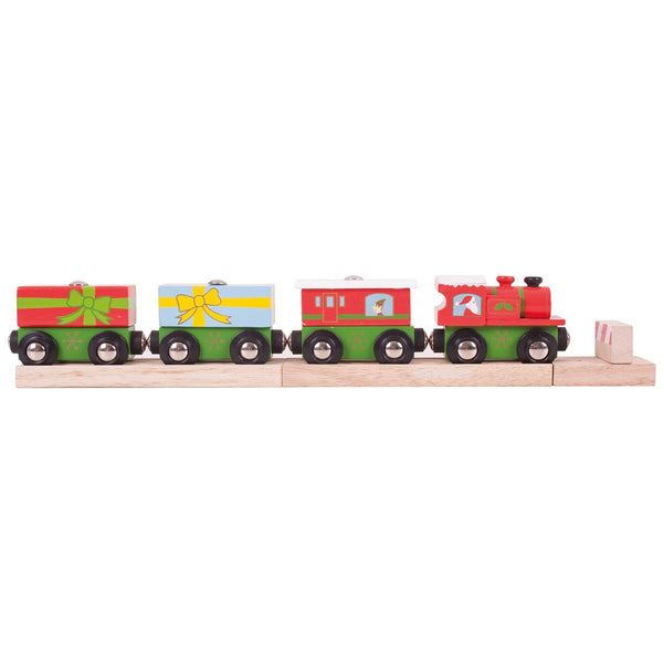 bigjigs wooden christmas train