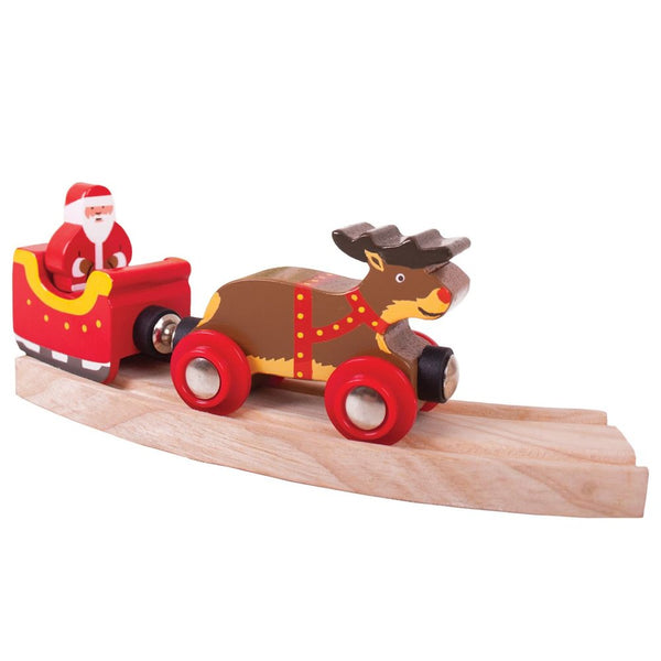Bigjigs Father Christmas & Reindeer Train
