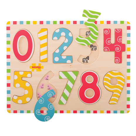 Bigjigs Numbers Wooden Inset Puzzle