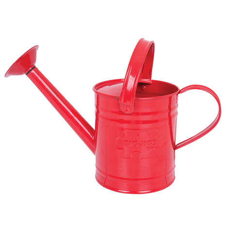 childrens red metal watering can
